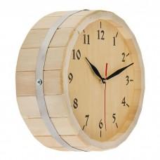 Часы в баню из дуба
