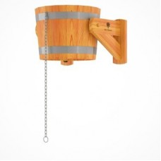 Обливное устройство( русский душ) из лиственницы с пластиковой вставкой 16л