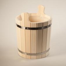 Запарник ЗРП10 из липы с пластиковой вставкой и деревянными ручками 10л