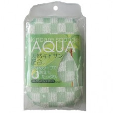 Губка AQUA с хитозаном 8х14х5 см BQ 421 (Япония)