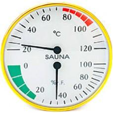 """Термогигрометр для бани """"Банная станция"""" 2 в 1 круглый"""