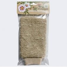 Мочалка-варежка натуральная из конопли ГК-110