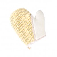 Мочалка рукавица комбинированная из сизаля и х/б 0108