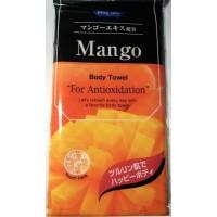 "Мочалка для тела мягкая с антиоксидантами ""Манго"" (Япония)"