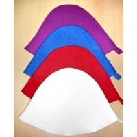 Шапка фетровая цветная плоская