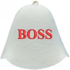"Шапка для бани войлочная ""Boss"""