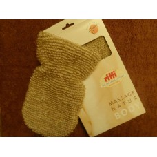 Мочалка -варежка из льна в подарочной упаковке (Германия)  №202