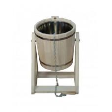 Обливное устройство (русский душ) 20л липа с пластиковой вставкой