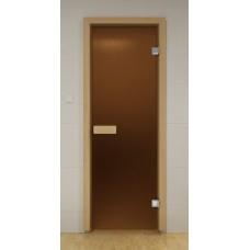 Дверь (Бронза матовая / Сатин/ Синяя). Габариты по коробке 690 x 1890 мм.