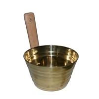 Ведро (ушат для бани) латунь 3л