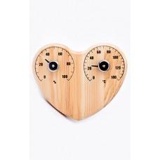 """Термогигрометр для бани """"Сердце"""" СБО-3тг в коробочке"""